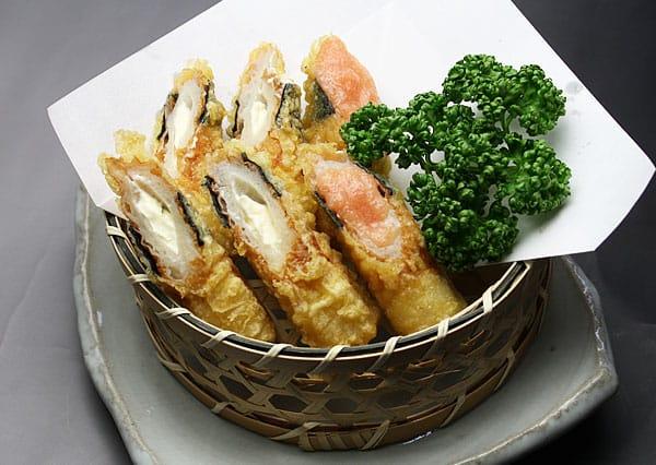 竹輪チーズの磯辺揚げ写真