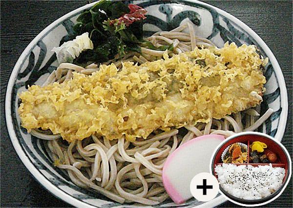 冷やし にしん天ぷらそば定食写真
