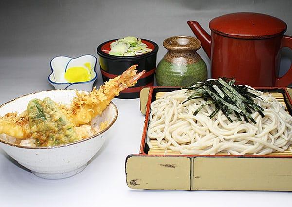 ざるとミニ天丼セット写真